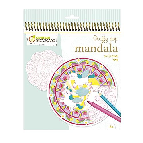 Avenue Mandarine GY071C – Un Cuaderno Graffy Pop Mandala 3