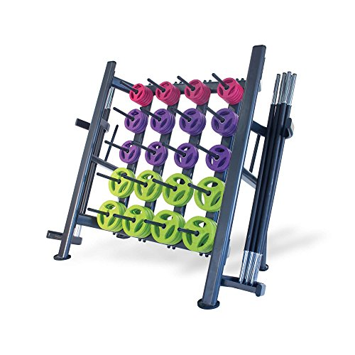Physical Company Rack Olympischer Tellerbaum, Schwarz, 30 Rubber Pump Sets and Black Bars Included