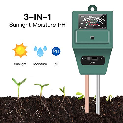 Best Review Of Soil Moisture Sunlight Ph Test Meter,Soil Tester Meter, 3-in-1 Test Kit for Moisture,...