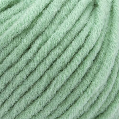ggh Aspen, Farbe:085 - Frostige Jade, Merinowolle Mischung, 50g Wolle als Knäuel, Lauflänge ca.58 m, Verbrauch 600g, Nadelstärke 7-8, Wolle zum Stricken und Häkeln