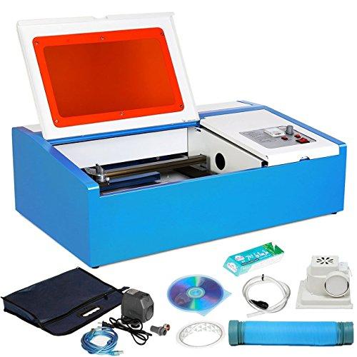 Moracle Máquina de Grabado Máquina de grabado láser 40W con Puerto USB Grabador de láser de CO2 Grabador para Acrílico de Madera de Cuero, etc.