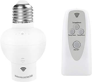 Casquillos para bombillas E27, portalámparas E27 tornillo y mando a distancia - con alcance de 30m y control remoto Interruptor, Zócalo Casquillo Inalámbrico para Bombilla Complimentos de Casa Oficina