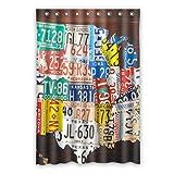 Dalliy Brauch nummernschild Wasserdicht Polyester Shower Curtain Duschvorhang 120cm x 183cm