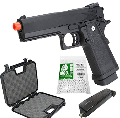 Airsoft HI-CAPA 4.3 Green Gas Pistol with Free Speed Loader BBS and Gun Case [Airsoft Blowback]