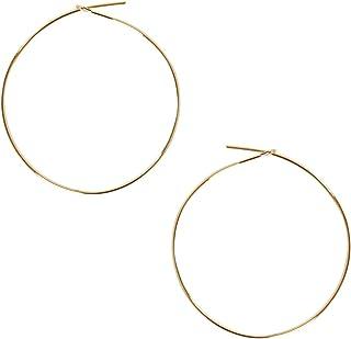 Humble Chic Round Hoop Earrings - Hypoallergenic Lightweight Wire Threader Loop Drop Dangles for Women,