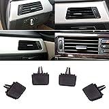 Pattes de ventilation pour BMW E90 / E91 / E92 / E93 (série 3) 2006–2013 en plastique pour grille d'aération de voiture, kit de réparation, facile à installer (Noir)