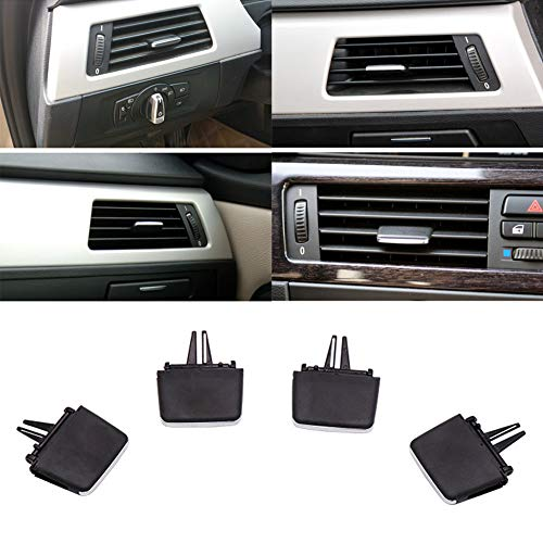 Air Vent Tabs for BMW E90 / E91 / E92 / E93 (3 Series) 2006-2013, Plastic Car Air Conditioning Vent Outlet Tab Clip Repair Kit, Easy to Install(Black)