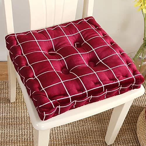 PYapron Armchair Booster Cushion Large Firm 40 cm quadratisches Sitzkissen mit unterstützendem 10 cm dicken Lift Soft Touch Baumwollkissen für ältere Menschen, Schwangerschaft (rot)
