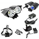 ETpower® 5000 Lumens XM-L U2 LED Bicycle Light & 6400mAh Battery Pack