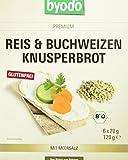 Byodo Reis und Buchweizen Knusperbrot, 4er Pack (4 x 120 g) -