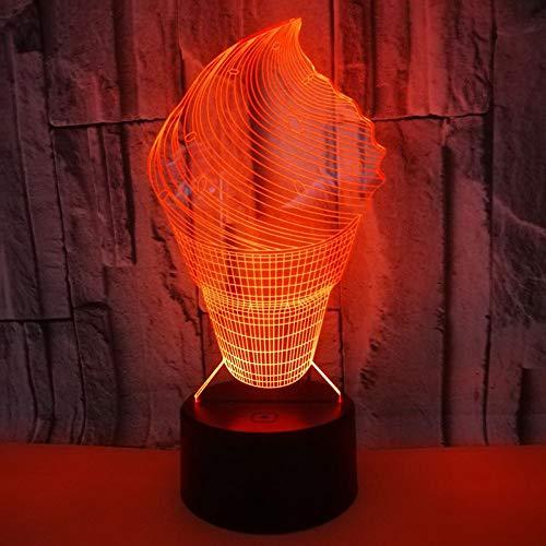 3D Nachtlicht Illusion Lampe Led Eisform Kinder Stimmungslicht Fernbedienung Nachttischlampe 16 Farben Ändern Touch Switch Schreibtisch Lampen Geburtstagsgeschenk Für Kinder