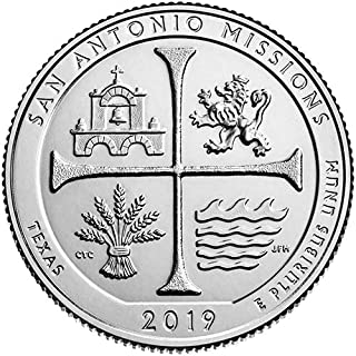 2019 S BU San Antonio Missions San Antonio Texas National Park NP Quarter Choice Uncirculated US Mint
