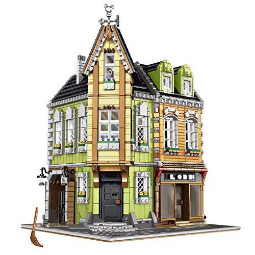 PEXL Juego de construcción de bloques de construcción para casa, centro comercial Corner, modelo de arquitectura modular, 3740 bloques de construcción compatibles con Lego