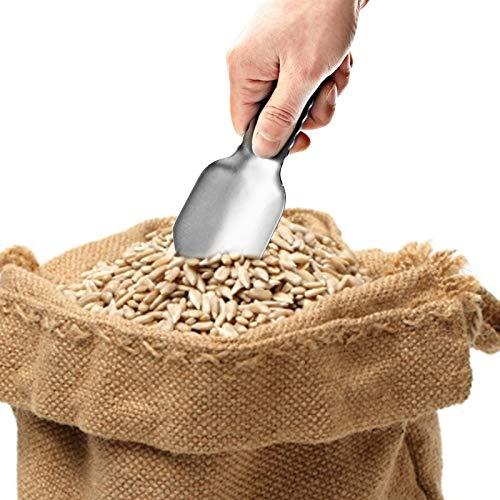 Aosong Pala portátil para jardín de Food Scoop, de aluminio ligero, herramienta de jardín, camping, para bar, bufé, fiesta, comida para animales
