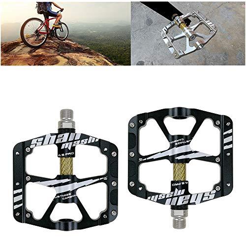 YSHUAI Bicicleta De Carretera BMX MTB Pedales De Bicicleta De Fibra De...