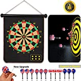Hedonism Magnetic Dart Board Set Safety for Kids Adults Indoor Outdoor Double Sided Dartboard Great for Party Leisure Sports Games Gifts 12 Darts