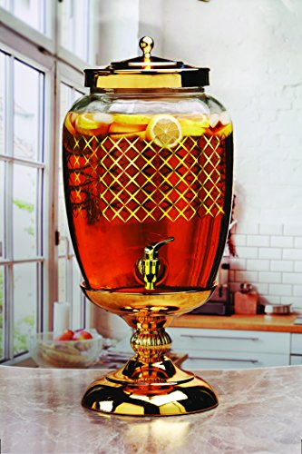 Lavish Glass Beverage Dispenser
