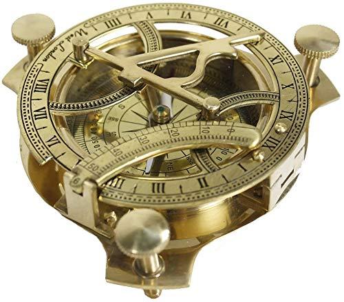 Samara Nautical 10,2 cm Sonnenuhr-Kompass – Sonnenuhr aus massivem Messing