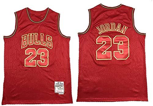 GLACX Jerseys de Baloncesto para Hombres, NBA Chicago Bulls 23# Jordania (8 Estilo) Uniformes de Baloncesto Retro Verano Al Aire Libre Vestidos Deportivos Vestidos Tops Camisetas,H,XL