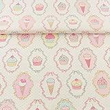 Labor De Retazos Textiles para El Hogar Tela De Algodón Scrapbooking Ropa De Cama Sarga Rosa Helado Y Dulce Diseño Costura Ropa Patchwork-32X32