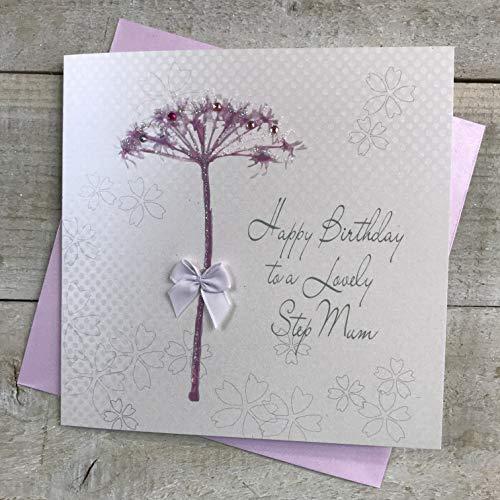 Wit Katoen Kaarten BD55 Gelukkige Verjaardag Aan Een Mooie Stap Mama Handgemaakte Verjaardagskaart