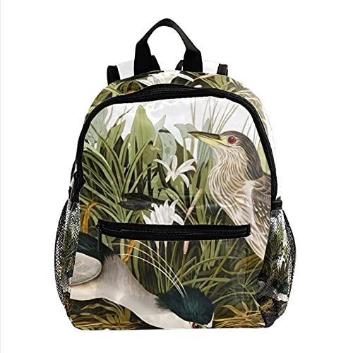 RuppertTextile Zaino per adolescenti e ragazzi Utility Daypack Walk Travel Bag Brook Bird. con il pacchetto della bottiglia d'acqua