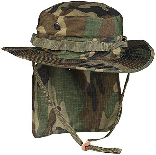 Mil-Tec Chapeau Boonie britannique avec cache-nuque, chapeau safari, chapeau tropical, différents modèles - Vert - M