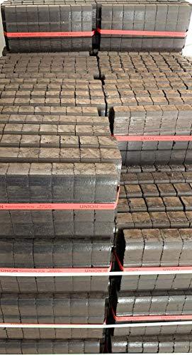 25kg Heizprofi Kohle Braunkohle | Bündel Brikett | Ofen | Kamin - hoher Energiegehalt dadurch sehr hohe Wärmeabgabe
