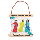 Fun Express Fisher of Men Bible Craft Kit for Kids - Makes 12 - VBS, Sunday School and Religious Craft Activities