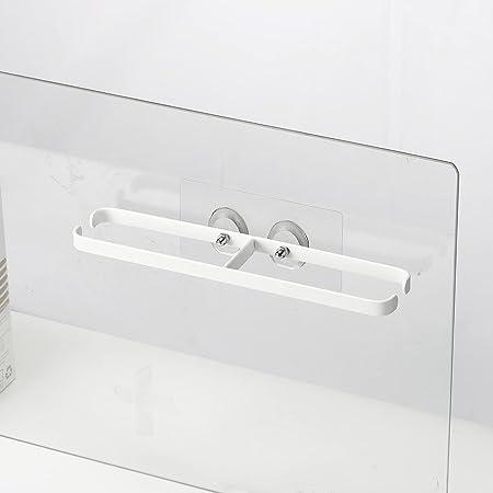 スリッパラック 穴開け不要 壁掛け式 粘着式 ステンレス 金属 白 ホワイト 1足掛け サンダル収納 壁面に傷つかない 省スペース 玄関 浴室 ベランダ…