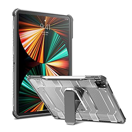 LGQ Funda Protectora para iPad Pro 11 Pulgadas, Funda Protectora de Cuerpo Completo de Doble Capa A Prueba de Golpes con Portalápices, Adecuada para Apple iPad Pro 11'2020/2021 2/3 Generación,Gris