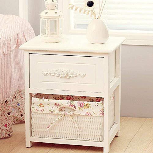 HYY-YY Mesilla de noche de madera con el almacenamiento de la cuchara - Dormitorio Night Stand tabla final del gabinete de almacenamiento, Mesita for espacios pequeños for accesorios for el dormitorio