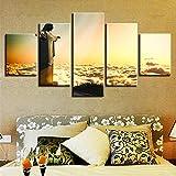 NIUBB Leinwand Bilder Wohnzimmer Dekor 5 Stück Cristo