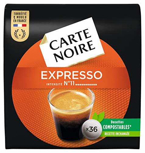 Carte Noire Espresso Puissant N°11 - 180 Dosettes souples (Lot de 5 X 36)