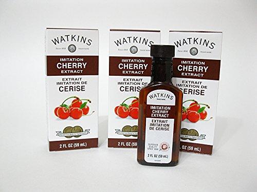 Watkins Extract 2oz Bottle (Pack of 3) Choose Flavor Below (Imitation Cherry)