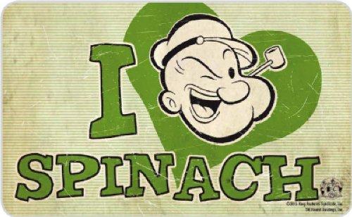 Popeye - Retro Vintage ontbijtplankje snijplank - I Heart Spinach!
