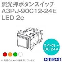 オムロン(OMRON) A3PJ-90C12-24ER 形A3P照光押ボタンスイッチ (角胴形) (LED照光) (赤) NN