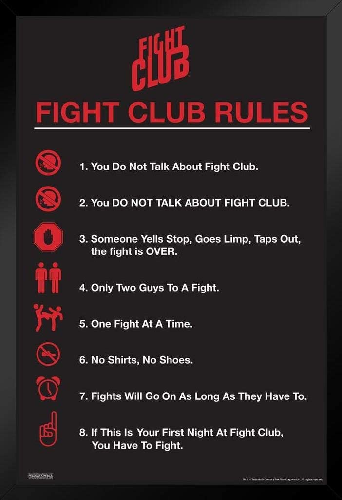 Pyramid America Fight Club Max 50% OFF Rules Movie Icons List Classic Simple Cheap mail order sales