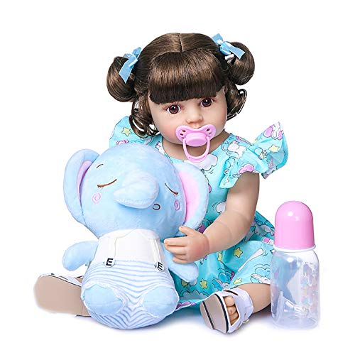 55 Cm Reborn Baby Snowdler Girl Muy Suave Cuerpo Completo Silicona Muñeca Baño Juguete Lifelike Real Soft Touch Bath Toy