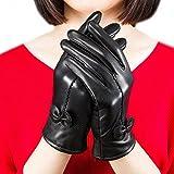 Fletion Ladies Luxury Guantes de piel para mujer