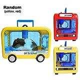 Trasportino portatile per piccoli animali, gabbia da viaggio compatta per criceti, trasportino per animali da esterno, con manico e fori, per criceti cincillà Mousea e altri piccoli animali domestici
