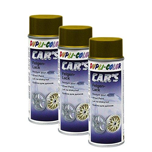 3X DUPLI-Color Cars FELGENGOLD FELGE Gold Glanz SCHUTZLACK Stahl LEICHTMETALL 40