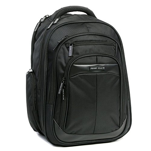 Perry Ellis M140 Business Laptop Backpack, Black