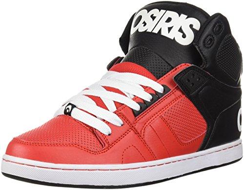 Osiris NYC 83 CLK Zapatillas de skate para hombre, Multi (Rojo/Negro/Blanco), 36.5 EU
