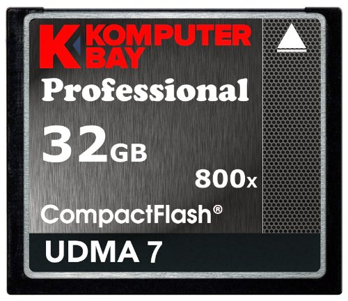 Komputerbay 32GB Professional Compact Flash Karte 800X CF 120MB/s Extreme Speed UDMA 7 RAW