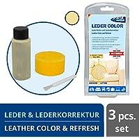 1-2-3REPAIR Tinte para cuero y cuero sintético, Beige claro