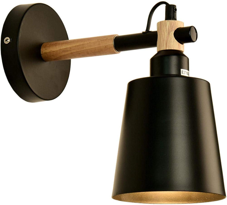 punto de venta de la marca Nordic Nordic Nordic moderna lámpara de parojo minimalista país americano de hierro forjado restaurante de estilo industrial bar pasillo sala de estar TV lámpara de parojo - negro  oferta de tienda
