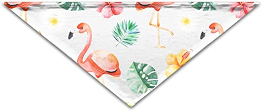 """Grebsw Cute Flamingo 1 Soft Washable Pet Triangle, 11.8"""" 25.6"""", Suitable for Puppies, Kittens, Rabbits"""