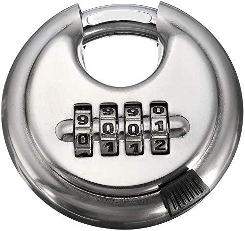 Indoor and Outdoor Security Lock Password Padlock 4 Digit Security Combination Disc Padlock Steel Alloy Heavy Duty Hardened Door Lock Uptodate