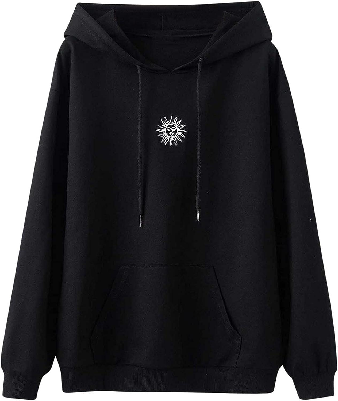 felwors Teen Girls Hoodies, Women Girls Loose Cute Printed Long Sleeve Sweatshirts Casual Pullover Tops Sweaters